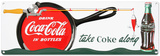 Coca Cola - Coke Fishing Sign Cartel de chapa