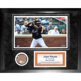 Jose Reyes Mini Dirt Collage Framed Memorabilia