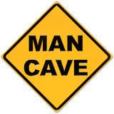 Man Cave Yellow Street Plaque en métal
