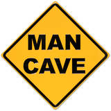 Man Cave Yellow Street Cartel de chapa