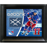 Marion Gaborik New York Rangers Game Used Net Photo Collage Framed Memorabilia