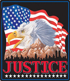 Justice American Eagle Flag Tin Sign