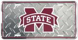 Mississippi State Diamond License Plate Plechová cedule