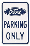 Ford Parking Only Logo Plaque en m&#233;tal