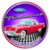 Ford Thunderbird Car Round Blechschild