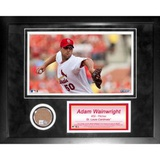 Adam Wainwright Mini Dirt Collage Peas de valor estimativo emolduradas