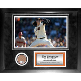 Tim Lincecum Mini Dirt Collage Framed Memorabilia