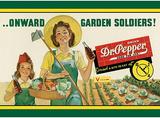 Dr Pepper Soda Onward Garden Soldiers Plaque en métal