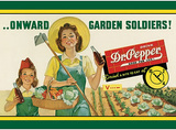 Dr Pepper Soda Onward Garden Soldiers Plakietka emaliowana