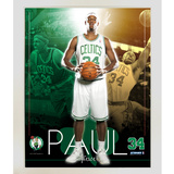Paul Pierce Boston Celtics Team Colors Composite Vertical Collage Framed Memorabilia