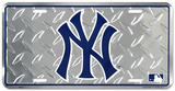 NY Yankees Diamond License Plate Plaque en métal