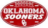 Oklahoma Sooners Oval License Plate Blikskilt