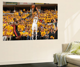 Indianapolis, IN - May 24: Miami Heat and Indiana Pacers - George Hill and Mario Chalmers Wall Mural by Nathaniel S. Butler