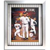 Derek Jeter Multi Image with Pop-Up Vertical w/ In The Game Dirt - (unsigned)igned Collage Framed Memorabilia