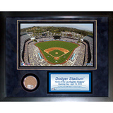 Dodger Stadium Mini Dirt Collage Framed Memorabilia