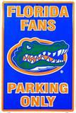 Florida Gators Parking Only Tin Sign
