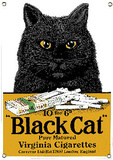 Black Cat Virginia Cigarettes Wall Sign
