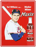 Ted Williams Make Mine Moxie Soda Cartel de metal