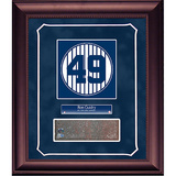 Ron Guidry Retired Number Monument Park Brick Slice Collage w/ Nameplate Framed Memorabilia