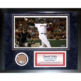 David Ortiz Mini Dirt Collage Framed Memorabilia