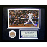 Jason Giambi 'The Last Single' Mini Dirt Collage Framed Memorabilia