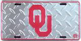 Oklahoma University Diamond License Plate Tin Sign