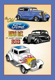 Old Fords Never Die They Just Go Faster Tin Sign