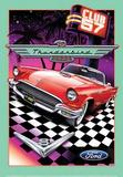 Ford Thunderbird Club 57 Car Blechschild