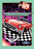 Ford Thunderbird Club 57 Car Tin Sign