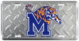 Memphis Tigers Diamond License Plate Blikskilt