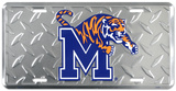 Memphis Tigers Diamond License Plate Tin Sign