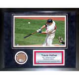 Travis Hafner Mini Dirt Collage Framed Memorabilia
