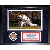 Josh Beckett Mini Dirt Collage Framed Memorabilia