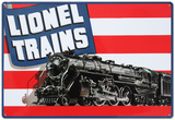 Lionel Trains American Flag Tin Sign