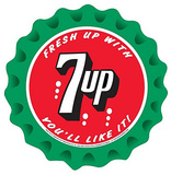 7Up Seven Up Soda Fresh Up You'll Like It Round Plakietka emaliowana
