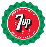 7Up Seven Up Soda Fresh Up You'll Like It Round Peltikyltti