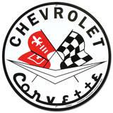 Corvette Plaque en métal