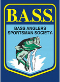 Bass Master Fishing Shield Tin Sign