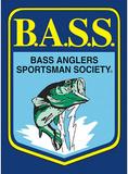 Bass Master Fishing Shield Tin Sign