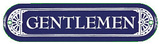 Gentlemen Men's Room Porcelain Wall Sign