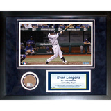 Evan Longoria Mini Dirt Collage Framed Memorabilia