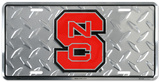 North Carolina State Diamond License Plate Tin Sign