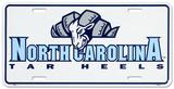 North Carolina Tar Heels License Plate Plechová cedule