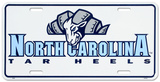 North Carolina Tar Heels License Plate Tin Sign
