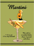 Martini Drink Recipe Sexy Girl Blikskilt