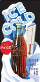 Ice Cold Coca Cola Coke 44 Degrees Plakietka emaliowana
