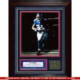 Tiki Barber Turf Collage w/ Photograph Framed Memorabilia