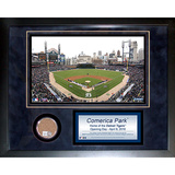 Comerica Field Mini Dirt Collage Framed Memorabilia