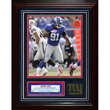 Justin Tuck Turf Collage w/ Photograph Framed Memorabilia