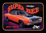 Dodge Super Bee Six Pack Car Plakietka emaliowana